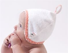 How adorable is this one! Bath bonnet in shell