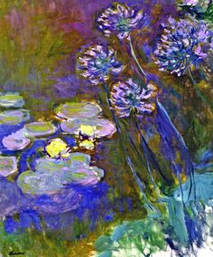 Claude Monet. Water Lilies and Agapanthus (1917).