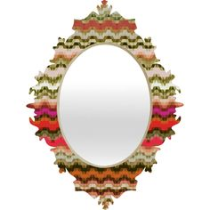 Lisa Argyropoulos Tempo Autumn Baroque Mirror | DENY Designs Home Accessories #mirror #baroque #autumn #decor #chevron #triangles #cool #dorm #home #bedroom #apartment