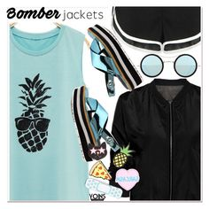"""Light Topping: Summer Bomber Jackets 2"" by paculi ❤ liked on Polyvore featuring Forever 21, Kyme and bomberjackets"