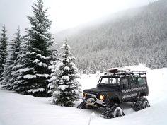 Hyland Adventures Land Rover on Mattracks
