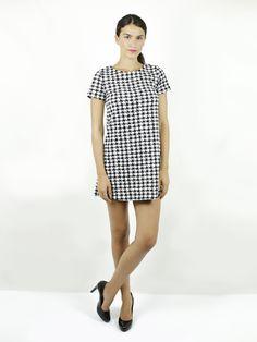 ab57fc0f0356 vestito pied de poule - abbigliamento donna - vendita online -  luanfashionstore - please fashion