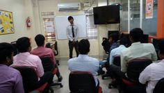 Students from 167 batch giving presentation on introducing themselves