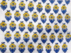 1 Yard Sanganer Cotton Natural Sewing Craft Hand Block Print Running Fabric V243 #NamasteyJaipur