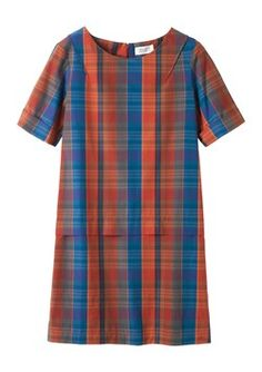 MADRAS CHECK TUNIC DRESS by TOAST
