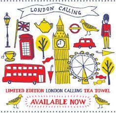Love this cutesy London-themed tea towel from MOZI Australia
