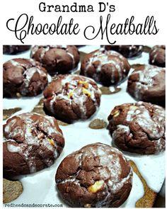 Italian Meatball Cookie Recipe, Italian Cookie Recipes, Italian Desserts, Italian Pastries, Italian Foods, Roll Cookies, Brownie Cookies, Chocolate Cookies, Baking Cookies