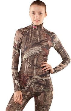Under Armor Camo. Have to get this for hunting-season....they won't find you to clean up their messy boots...or gear...or for FEEDING TIME.  Good luck.