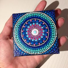 Pintura de Mandala pequeño original sobre por CreateAndCherish