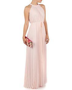 TED BAKER - HAYLEA - Pleated maxi dress £199