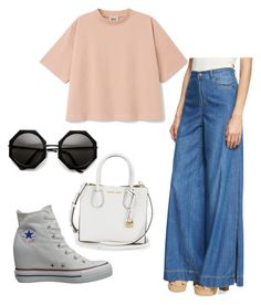"""""""Work Casual Outfit"""" by vasilica-cor on Polyvore featuring Alice + Olivia e Converse"""