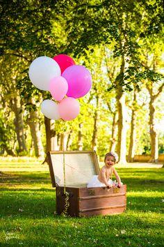 Baby girl photoshoot idea