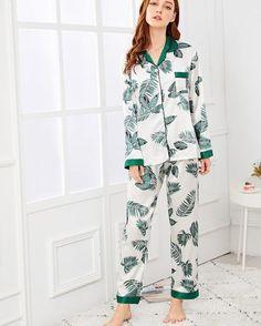 4baa9c7c90 Palm Leaf Print Button Up Pajama Set price 550 LE Size M L XL XXL Material