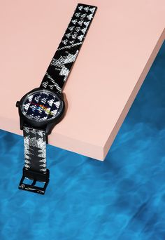 Prop stylists Amanda Ringstad created a shoot around Q+Q's line of waterproof, solar-powered watches - via @sightunseen