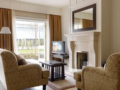 Lough Eske Castle is a 5 Star castle hotel in Ireland that offers spacious accommodations, hotel packages, wedding and meeting spaces, and dining. Castle Hotels In Ireland, Hotel Packages, Gas Fireplace, Sitting Area, Room, Home Decor, Living Room, Homemade Home Decor, Rooms
