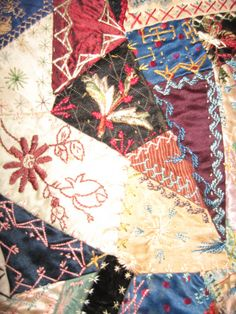 Crazy Quilt from 1871 to 1930 by KarensKleenKloset on Etsy, $1800.00