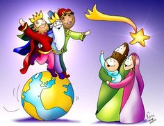 ANNO C Jesus Cartoon, Religion Catolica, Three Wise Men, Summer Art, Christmas Fun, Bowser, Folk, Clip Art, Princess Zelda