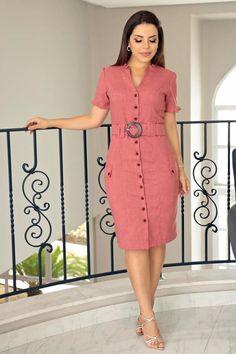 Modest Dresses, Simple Dresses, Cute Dresses, Vintage Dresses, Classy Work Outfits, Casual Dress Outfits, Modest Outfits, Simple Frock Design, Office Dresses For Women
