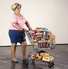 """cavetocanvas: """"Duane Hanson, Supermarket Shopper, 1970 In this creepily realistic sculpture, Hanson critiques middle America and consumerism. The woman depicted is not idealized in any way, and. Art Occidental, Supermarket, Ludwig, Collaborative Art, Consumerism, Art Plastique, American Artists, Installation Art, Oeuvre D'art"""