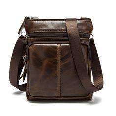 Retro 100% cow leather Men's shoulder bag made of genuine leather crossbody man bag messenger bolsa de praia bag men leather