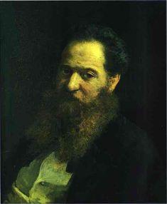 Portrait of the Physiologist Moriz Schiff, 1867  Nikolai Ge