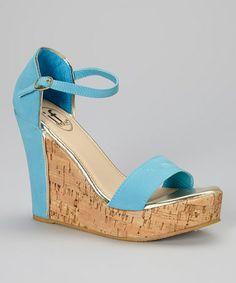 Look what I found on #zulily! Blue Cork Wedge #zulilyfinds