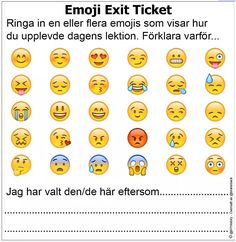 Emoji Exit Ticket ~ Kilskrift