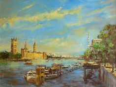 Westminster:view From South Bank by Martin Ulbricht | Artgallery.co.uk