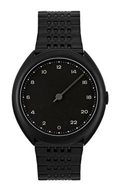 slow Armbanduhr Slow O 03 All Black Steel nur Mens Watches Online, Watches For Men, Stainless Steel Metal, Metal Bands, Luxury Watches, All Black, Gadgets, Shopping, Clothing