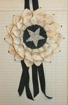 Paper Cone Wreath - I want to make this with some pages from my favorite book (as long as I have an extra copy handy!)