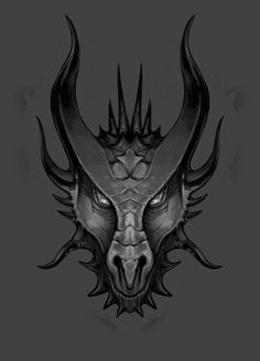 Dragon's head sketch 02 by LawrenceMann