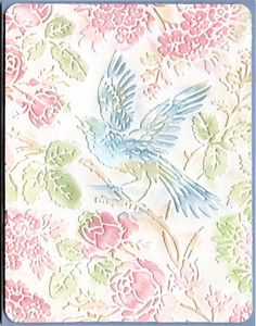 handmade card ... Anna Griffin embossing  folder and pastels ... gorgeous!