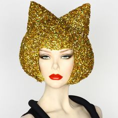 Glitter Kitty Wig by Patricia Field Gold Wigs, Patricia Field, Wig Hat, Dress Up Costumes, Costume Ideas, Golden Girls, Headdress, Pretty Hairstyles, Lace Front Wigs