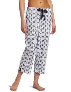 Nautica Sleepwear Women`s Knit Anchors Capri Pyjama $26.99