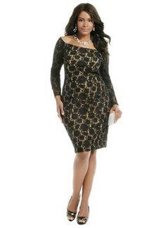 Sheath/Column Off-the-Shoulder Knee-Length Lace Evening Dress