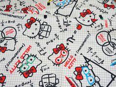 He encontrado este interesante anuncio de Etsy en https://www.etsy.com/es/listing/210242783/hello-kitty-fabric-mathematic-theme-50
