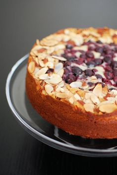 Blueberry Almond Cake with Lemon Drizzle | Beantown Baker
