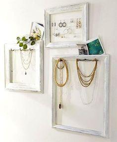 framed jewelry storage