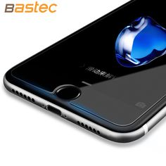 [2-Pack]Bastec HD Clear Protective Film 0.26mm Curved Edge Tempered Glass Screen Protector for iPhone 7 6 6s Plus 5 5s SE