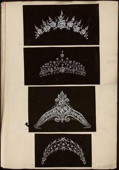 [Quatre modèles de couronnes et diadèmes] | Centre de documentation des musées - Les Arts Décoratifs