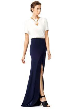 GALVAN Two Tone Dress