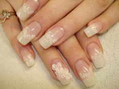 acrylic lace nail art design photo