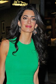 Amal Clooney Stuns In Perfectly Form Fitting, Versace Dress