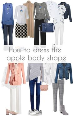 Dressing for the apple body shape can sometimes be a challenge. Here are my tips on how to dress the apple body shape and look fabulous! Apple Body Shape Outfits, Dresses For Apple Shape, Dress Apple Shape, Clothes For Apple Shape, Apple Body Fashion, Apple Shape Fashion, Apple Body Type, Apple Body Shapes, 50 Fashion