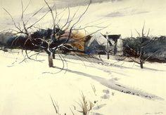 My Father's Studio by Andrew Wyeth, 1940