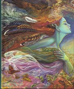 """The Spirit of Flight"" by Josephine Wall."