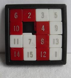 1960s Vintage Toy - TRAVEL NUMBER PUZZLE GAME by Christian Montone, via