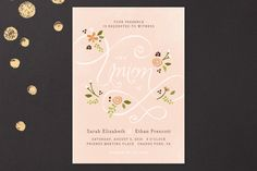 """""""A More Perfect Union"""" - Hand Drawn, Rustic Print-it-yourself Wedding Invitations in Frost by Jennifer Wick."""