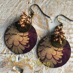 Some finished projects from On A String - ready to wear jewellery, and learn to bead patterns Handmade Wire Jewelry, Handmade Copper, Earrings Handmade, Handmade Items, Floral Motif, Beaded Embroidery, Beading Patterns, Antique Gold, Crystal Beads