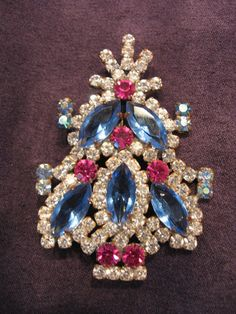 Czech Christmas Tree Pin Brooch